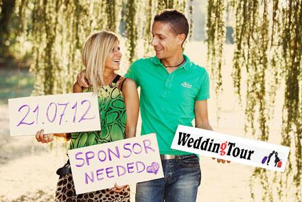 viaggio di nozze con lo sponsor