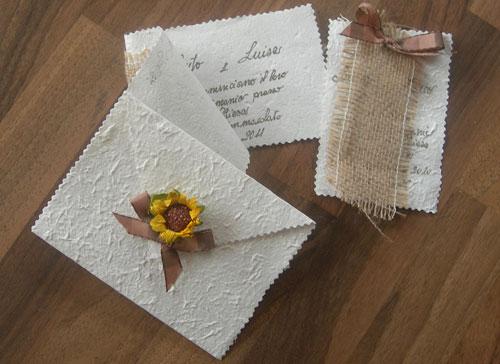 Partecipazione Matrimonio Girasoli : Partecipazioni fai da te a tema girasoli