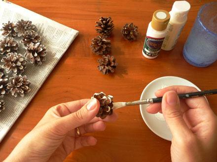 bouquet di pigne tutorial