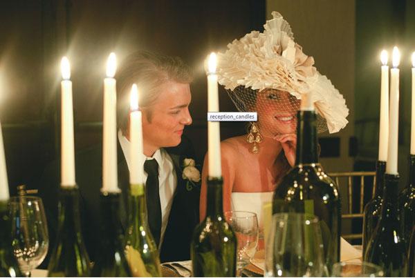 bottiglie centrotavola matrimonio candele