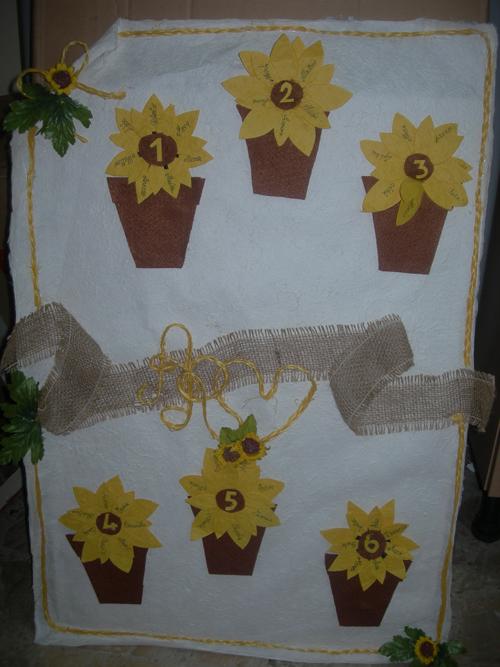 Tableau Matrimonio Girasoli : Tableau fai da te a tema girasoli
