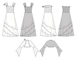 burdamodello abito da sposa