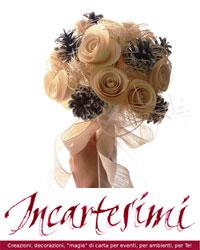 Tutorial: bouquet di pigne e roselline di carta