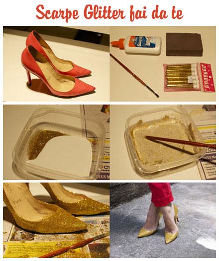 glitter per scarpe