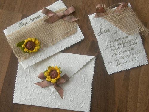Segnaposto Matrimonio Girasoli : Tema girasoli per le vostre nozze