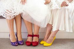 Scarpe colorate per la Sposa: perchè si possono riutilizzare