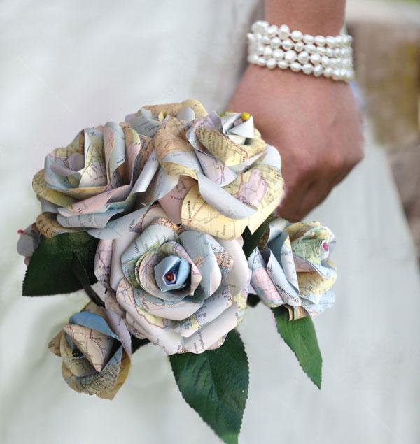 bouquet carta riciclata